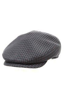 Кепка LF Shelton, ткань, цвет серый, клетка бордо