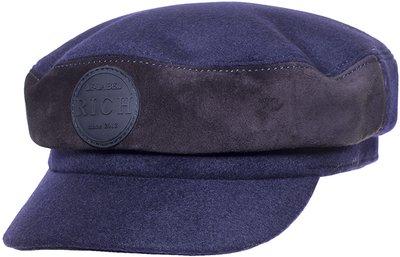 Капитанка LF-LABEL, ткань, замша, цвет синий 231-35-6 LF-LABEL