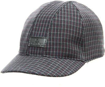 Бейсболка, London, ткань, цвет серый, клетка бордо 061-38