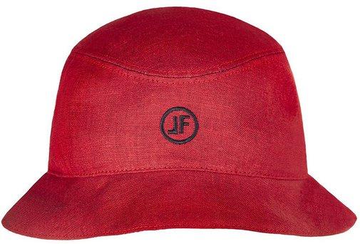 Панама, ткань лён, цвет красный 253-10LF