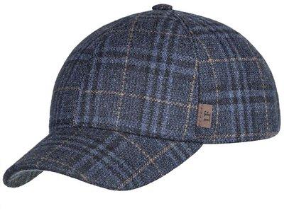 Бейсболка classic, ткань (шерсть), цвет синий, коричневая клетка 071-25