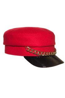 Картуз LF LADY, ткань пальтовая, цвет красный
