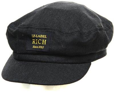 Капитанка RICH, лен 100%, цвет церный 273-4