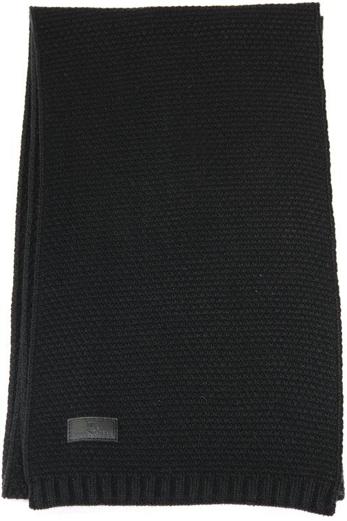 Шарф, трикотаж, цвет черный 01