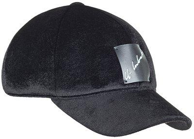 Бейсболка, бархат, цвет чёрный 071-109V